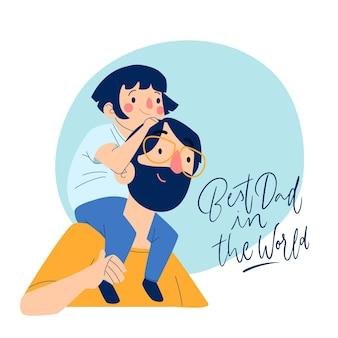 Motyw ilustracji dzień ojca