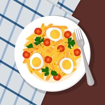 Motyw ilustracji kolekcji żywności komfort