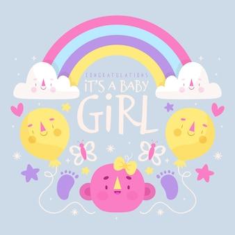 Motyw imprezy baby girl shower