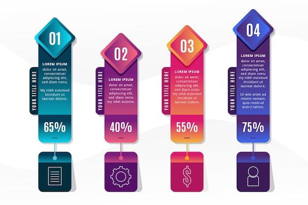 Motyw infografiki gradientu