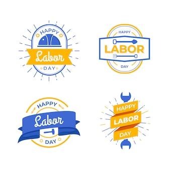 Motyw kolekcji etykiet dnia pracy