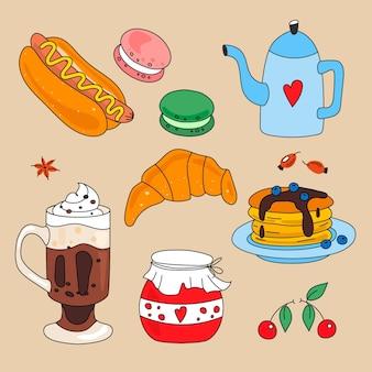Motyw kolekcji jedzenia komfortowego