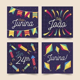 Motyw kolekcji kart festa junina