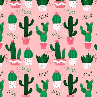 Motyw kolekcji wzór kaktusa