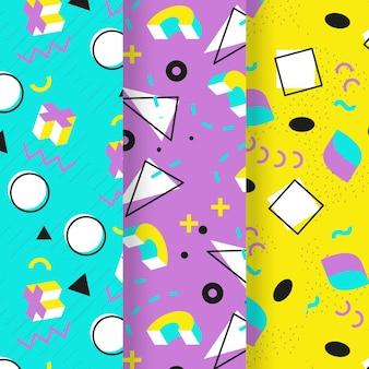 Motyw kolekcji wzorów memphis