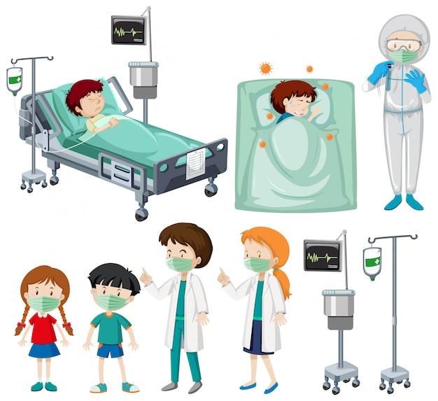 Motyw koronawirusa u wielu pacjentów i lekarzy