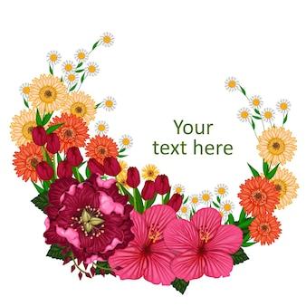 Motyw kwiatowy do projektowania i układu