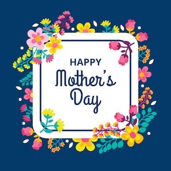 Motyw kwiatowy dzień matki