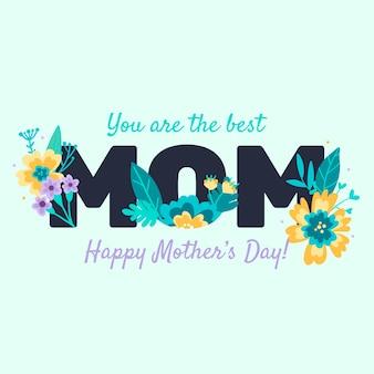 Motyw kwiatowy na dzień matki