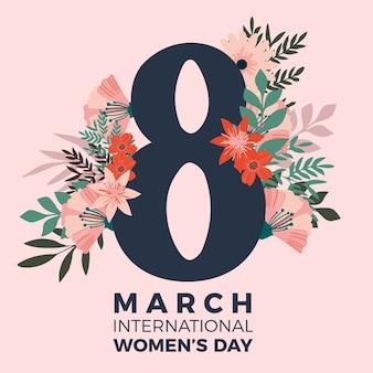 Motyw kwiatowy na wydarzenie z okazji dnia kobiet