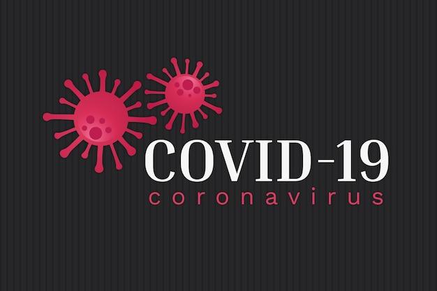 Motyw logo coronavirus dla szablonu
