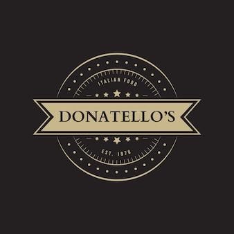 Motyw logo retro restauracja
