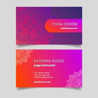 Motyw mandali dla szablonu karty biznesowej