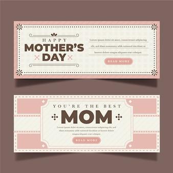 Motyw na banery z dniem matki