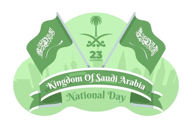 Motyw narodowego dnia arabii saudyjskiej