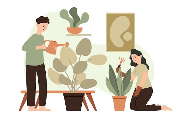 Motyw ogrodniczy w domu