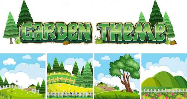 Motyw ogrodowy naure sceny