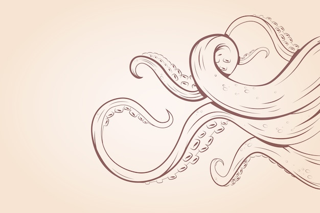 Motyw ośmiornicy tentacules na tapetę