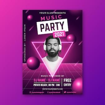 Motyw plakatu festiwalu muzycznego 2021
