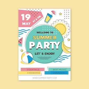 Motyw plakatu letniej imprezy