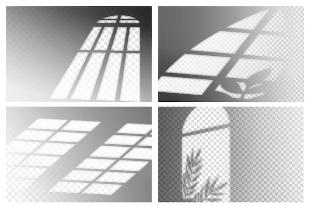 Motyw przezroczystych cieni o nieregularnym kształcie