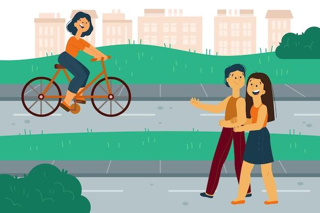 Motyw rysowania światowy dzień bez samochodu