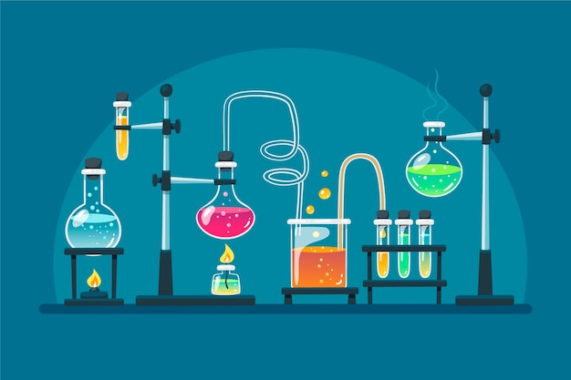 Motyw rysunkowy laboratorium naukowego