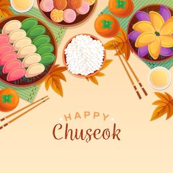 Motyw rysunku festiwalu chuseok