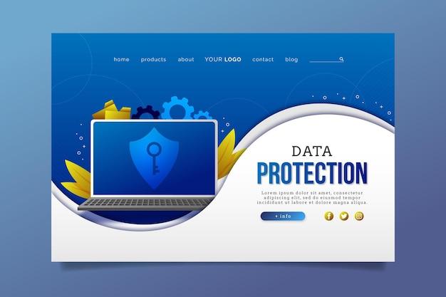 Motyw strony docelowej ochrony danych
