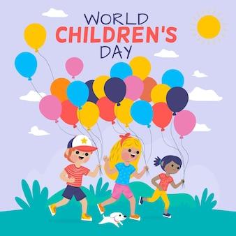 Motyw światowego Dnia Dziecka Darmowych Wektorów