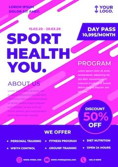 Motyw szablonu broszury sportowe
