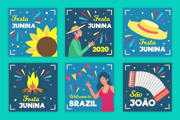 Motyw szablonu karty festa junina