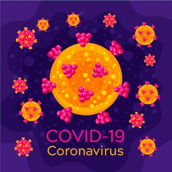 Motyw szablonu logo coronavirus