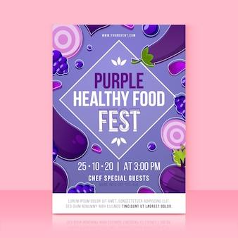 Motyw szablonu plakatu zdrowej żywności