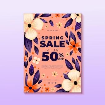 Motyw szablonu ulotki sprzedaży wiosennej
