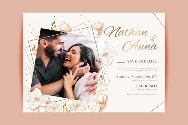 Motyw szablonu zaproszenia na zaręczyny