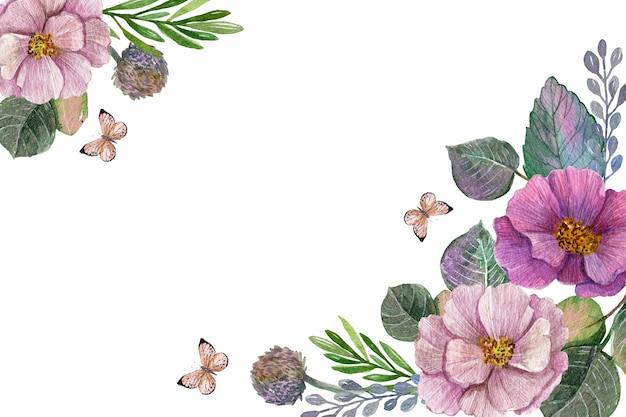 Motyw tła akwarela wiosna