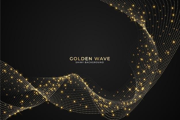 Motyw tła błyszcząca złota fala