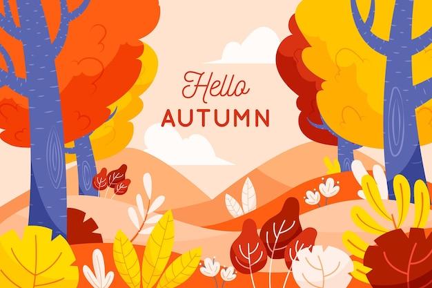 Motyw tła jesieni
