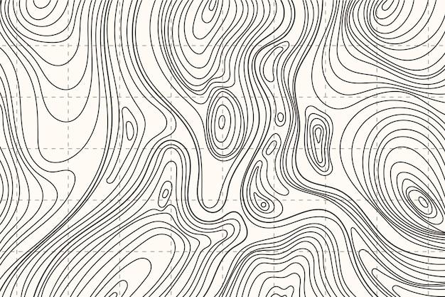 Motyw tła mapy topograficznej
