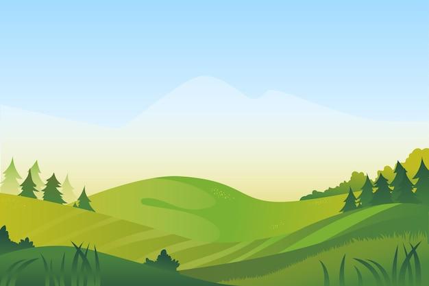 Motyw tła naturalnego krajobrazu