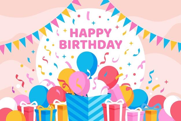 Motyw tła urodziny
