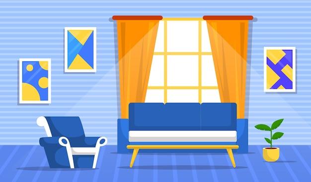 Motyw tła wnętrza domu