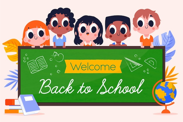 Motyw tła z powrotem do szkoły