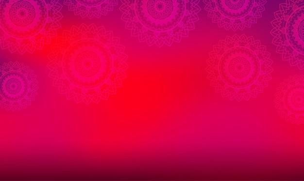 Motyw tła z wzorami mandali
