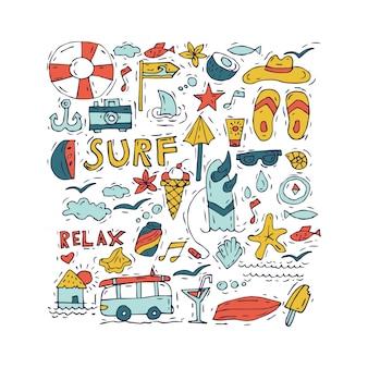 Motyw turystyki i wakacji.