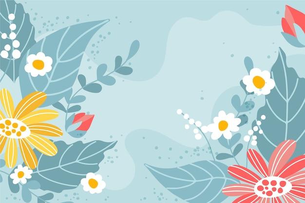 Motyw wiosny rysunek odręczny na tle
