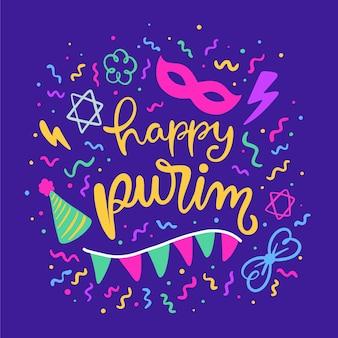 Motyw wydarzenia happy purim day