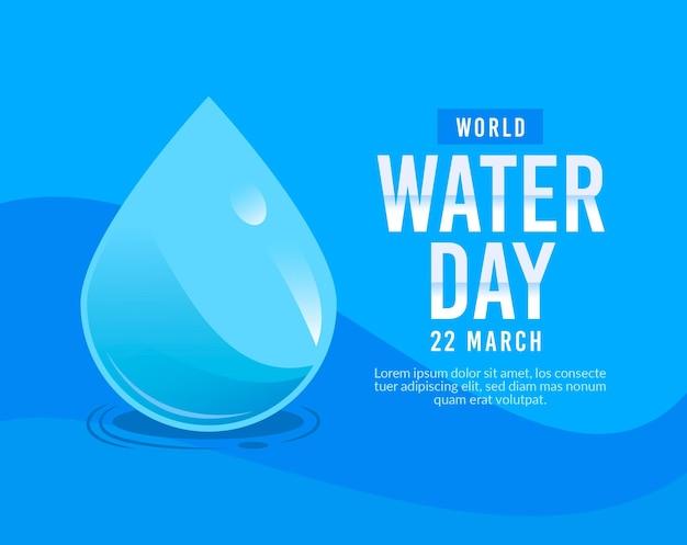 Motyw wydarzenia światowego dnia wody