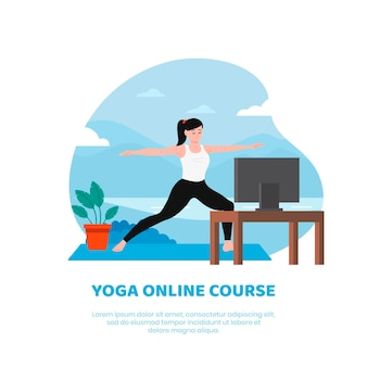 Motyw zajęć z jogi online